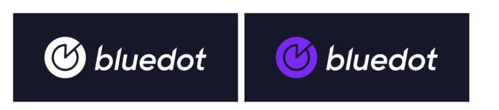 New bluedot logo with dark background