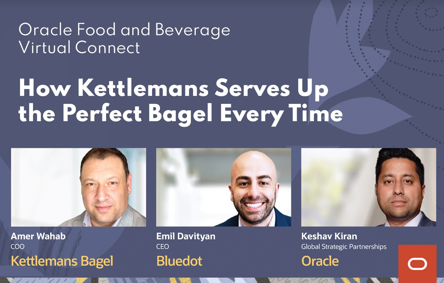 Join Us at Oracle's Food & Beverage Virtual Connect 2021 - Featured Image